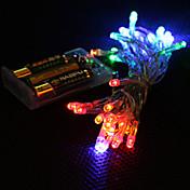 3m 4 colores de luz de 2 modos de hadas lámpara led cadena para Navidad (3xAA)