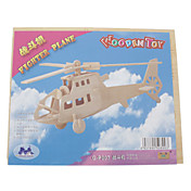 Rompecabezas Puzzles 3D / Puzzles de Madera Bloques de construcción Juguetes de bricolaje Helicóptero Madera Color BeigeModelismo y