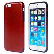 tpu del color sólido con la caja de cuero de la PU para el iphone 6 / 6s (colores surtidos)