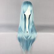 여성 인조 합성 가발 긴 스카이 블루 코스플레이 가발 할로윈 가발 카니발 가발 의상 가발