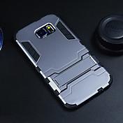 Para Funda Samsung Galaxy Carcasa Funda Antigolpes con Soporte Cubierta Trasera Funda Armadura Policarbonato para Samsung S6