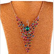 Mujer Y-Collares Cristal Brillante Legierung Pavo real Joyas Fiesta Diario 1 pieza