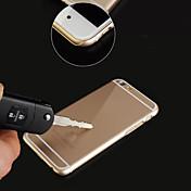 아이폰 6에 대한 큰 D 금속 다시 경우 새로운 초박형 휴대폰 케이스 플러스 / 6S 플러스 (모듬 된 색상)