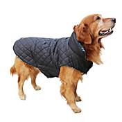 Perros Abrigos Chaleco Rojo Verde Marrón Beige Ropa para Perro Invierno Primavera/Otoño Ajedrez Mantiene abrigado Reversible