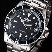 WINNER Hombre Reloj de Vestir Reloj de Moda Reloj de Pulsera El reloj mecánico Cuerda Automática Calendario Resistente al Agua Luminoso