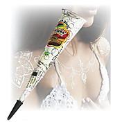 할로윈 흰색 반짝이 헤나 콘 바디 아트의 mehandi 잉크 jagua 임시 문신 키트