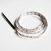 z®zdm 100cm 2w 60x3528smd luz led lámpara de franja blanca para coche (12V CC)