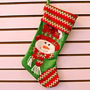 3PCS 크리스마스 트리 장식 크리스마스 장식 크리스마스 스타킹 선물 가방 큰 밝은 천 자수 양말