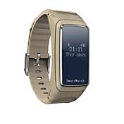 cardmisha b7 hablando inteligente auricular bluetooth pulsera para android 4.4 deportiva con iOS rastreador de ejercicios pulsera
