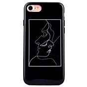 Para iPhone 8 iPhone 8 Plus Carcasa Funda IMD Diseños Cubierta Trasera Funda Chica Sexy Suave TPU para Apple iPhone 8 Plus iPhone 8
