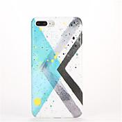 용 패턴 케이스 뒷면 커버 케이스 기하학 패턴 소프트 TPU 용 Apple 아이폰 7 플러스 아이폰 (7) iPhone 6s Plus iPhone 6 Plus iPhone 6s 아이폰 6