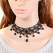 Mujer Collares con colgantes La imitación de diamante Gota Tela de Encaje Diseño Único Joyas Para Boda Fiesta Ocasión especial Casual1