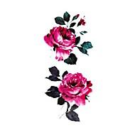 Αυτοκόλλητα Τατουάζ Σειρά Λουλουδιών Μοτίβο Waterproof Γυναικεία Girl Εφηβικό Flash Tattoo προσωρινή Τατουάζ