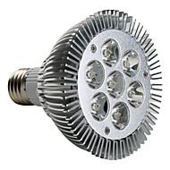 7W E26/E27 LED-spotlys PAR30 7 Højeffekts-LED 600-700 lm Varm hvid Vekselstrøm 220-240 V