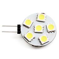 2w g4 led 스포트 라이트 6 smd 5050 150 lm 자연 흰색 dc 12 v