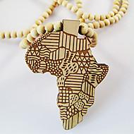 Ανδρικά Κρεμαστά Κολιέ Χάρτης Ξύλο Αφρική κοστούμι κοστουμιών Κοσμήματα Για Καθημερινά Causal Χριστουγεννιάτικα δώρα