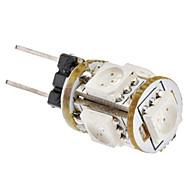 G4 1w 5x5050smd 80-120lm lâmpada de milho com luz vermelha (12v)