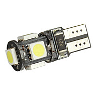 Merdia T10 Branco 5 5050 SMD LED Canbus Sem erro Carro  gratuito lâmpada LED (Par)-LEDD004JMA5S1