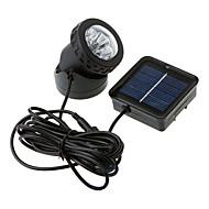 6-LED Su geçirmez Beyaz Işık Güneş Enerjili Spotlight Bahçe Açık Sel Lambası (BDT-57157)