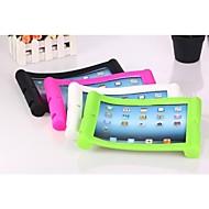 Yksivärinen Silikonikotelon Jalusta iPad2/3/4