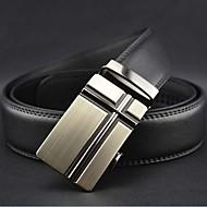 Mænds Fashion Automatisk Buckle Leather Belt