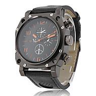 V6 Herren Armbanduhr Quartz Japanischer Quartz PU Band Schwarz Schwarz