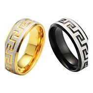 미세 입자와 높은 품질의 티타늄 강철 남자의 반지 하나