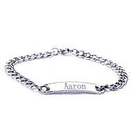 gepersonaliseerde gift roestvrij stalen sieraden gegraveerd id armbanden 0.7cm breedte