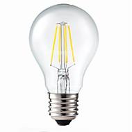 E26/E27 LED-hehkulamput G60 4 COB 400 lm Lämmin valkoinen Himmennettävissä Koristeltu AC 220-240 V