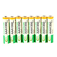 BTY 1.2V 1350mAh Genopladelig Ni-MH AAA Batteri 8 pcs
