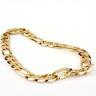 Ανδρικά Βραχιόλια με Αλυσίδα & Κούμπωμα Κλασσικά Μοντέρνα κοστούμι κοστουμιών Χρυσό Χαλκός Επιχρυσωμένο Κοσμήματα Κοσμήματα Για Πάρτι