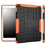Zwei-in-one blenden Farbstreifen-Design-PC und Silikonhülle mit Ständer für iPad (2017) Pro10.5 Pro9.7 iPad Air Air2 iPad234 mini 1234