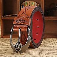 mænds imiteret læder form metalspænde bælte