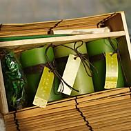 3pcs groene cilinder aromatherapie kaars