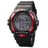 Dziecięce Sportowy Modny Zegarek na nadgarstek Zegarek cyfrowy Kwarcowy Cyfrowe LED Wodoszczelny Świecący Silikon PasmoNa co dzień