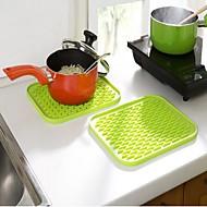 Pot Tutucu ve Fırın Mitt For Pişirme Kaplar İçin Paslanmaz Çelik Plastik Isı yalıtımlı