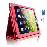 Kompatibilitás tokok Állvánnyal Automatikus készenlét / ébresztés Teljes védelem Case Tömör szín Műbőr Bőr mert iPad 4/3/2