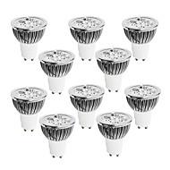 GU10 LED 스팟 조명 4 고성능 LED 400-450 lm 따뜻한 화이트 차가운 화이트 내추럴 화이트 밝기조절가능 AC 220-240 V 10개