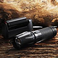 Kulcstartó elemlámpák LED 2200 Lumen 5 Mód Cree XM-L T6 18650 AAA 26650 Állítható fókusz Csúszásgátló markolat Nagyítható