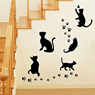 falimatrica fali matricák stílusú fekete macska pvc falimatrica