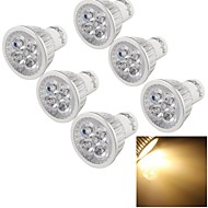6 stuks Youoklight® Gu10 4W Cri = 80 300-350lm 4-Power Power LED 3000k Warm Wit Led Spotlights (220-240v)