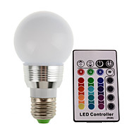 1.5w e27 / e14 120-150lm rgb levou lâmpada lâmpada led spot com controle remoto (85-265v)