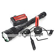 5 LED taskulamput LED 4800 Lumenia 5 Tila Cree XM-L T6 Kyllä Iskunkestävä Ladattava Vedenkestävä Isku viiste Taktinen Hätä varten