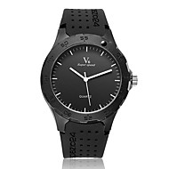 V6 Herren Armbanduhr Quartz Caucho Band Schwarz Schwarz