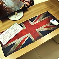 Britanska zastava prilagođene pravokutnik non-slip gume super velika veličina gaming miš jastuk mat (67 * 30 * 0.3cm)