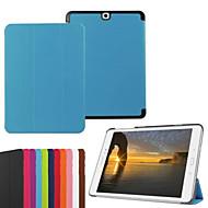Voor Samsung Galaxy hoesje met standaard / Flip / Origami hoesje Volledige behuizing hoesje Effen kleur PU-leer SamsungTab S2 9.7 / Tab