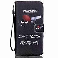 Mert Samsung Galaxy tok Pénztárca / Kártyatartó / Állvánnyal / Flip Case Teljes védelem Case Szó / bölcselet Műbőr SamsungS6 edge plus /