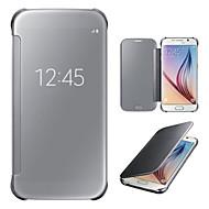 For Samsung Galaxy S7 Edge Med vindue Spejl Flip Etui Heldækkende Etui Helfarve PC for Samsung S7 edge S7 S6 edge plus S6 edge S6