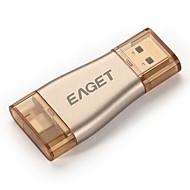 iPhoneのOTGのUSB用eaget I50の64ギガバイト3.0フラッシュは、iphone / ipadと/ iPodの、PC用のマイクロペンドライブのための100%の容量拡張を駆動
