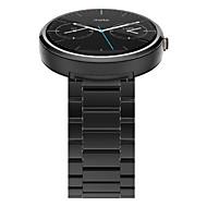 wysokiej klasy luksusowych stali nierdzewnej Pasek zegarka zespół z barem 2 sprężyny dla MOTOROLA MOTO 360 1 generacji
